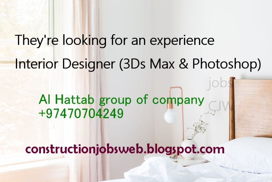 Interior Designer Vacancy
