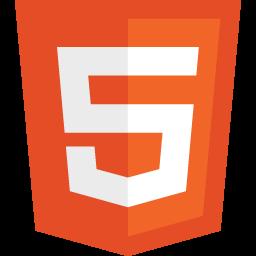 Orange HTML5 Logo