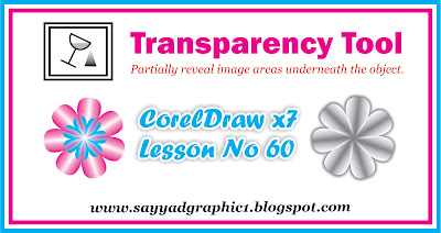 CorelDraw X7 in Urdu & Hindi Basic+advance Lesson 60 | Transparency Tool