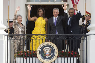 President Obama and his wife Michelle gave grand White House welcome for PM Lee