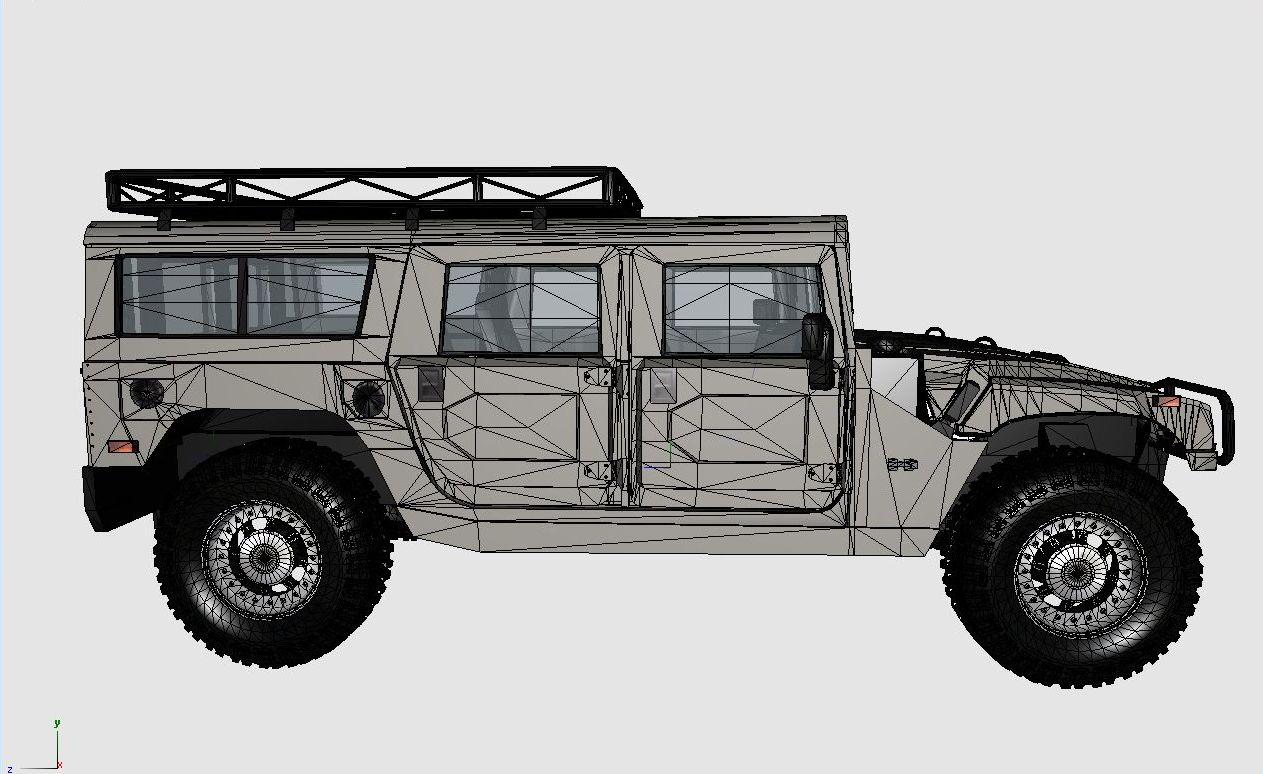 3D Modeling Blog: WIP: Hummer H1 Alpha new pictures