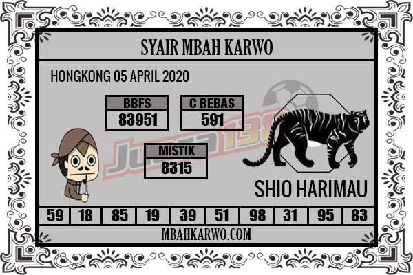 Prediksi HK Malam Ini Minggu 05 April 2020 - Syair Mbah Karwo