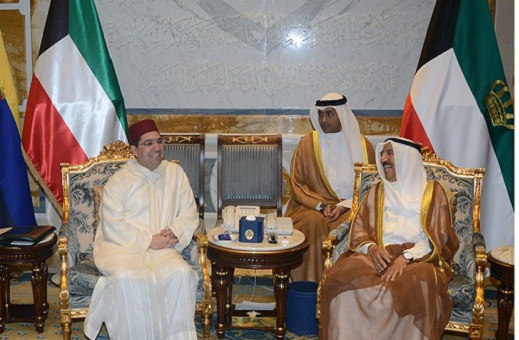 بوريطة يسلم رسالة خطية من الملك لأمير دولة الكويت