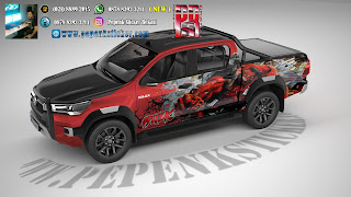 Mobil,Toyota Hilux,Mitsubishi strada Triton,ford ranger,Toyota hilux single kabin,DOBLE CABIN,black phanter,Cutting Sticker,Cutting Sticker Bekasi,cutting sticker Mobil,sticker mobil,jakarta,Bekasi,