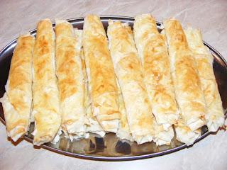 Rulouri din foi de placinta yufka cu branza la cuptor reteta de casa retete placinte tigarete,