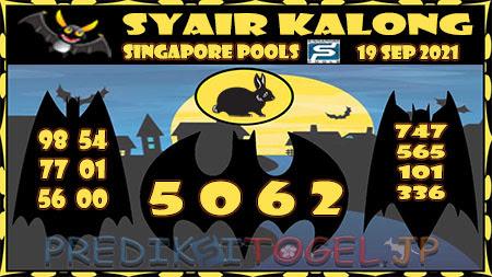Syair Kalong Togel Singapura Minggu 19-09-2021