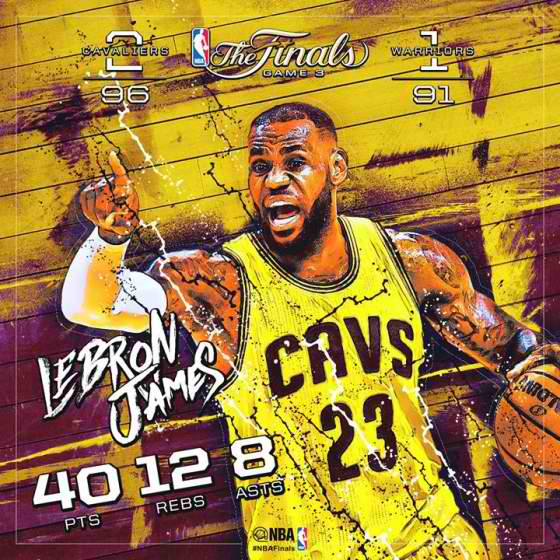 Highlights: Cavaliers Takes 2-1 Advantage Over Warriors In