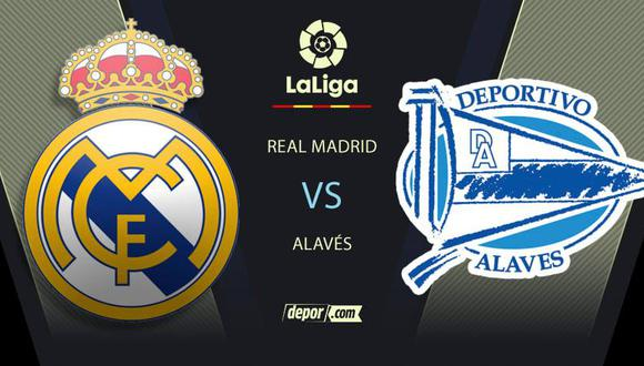 Real Madrid vs. Alavés EN VIVO: por LaLiga