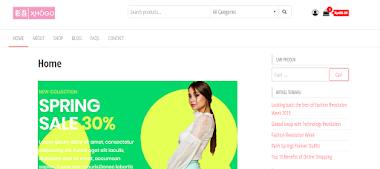 Website Toko Online xhogo.com