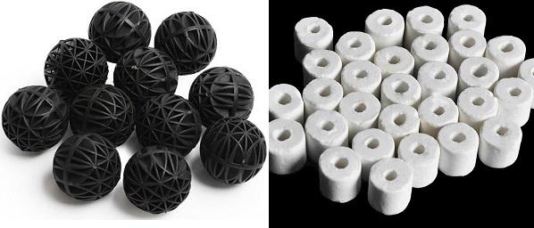 Differences between bio balls vs ceramic noodles