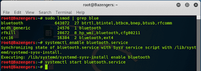 turn on bluetooth kali linux