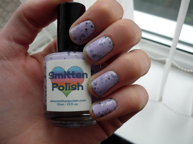Smitten Polish - Purple Polka-Dotty - Swatch and Review