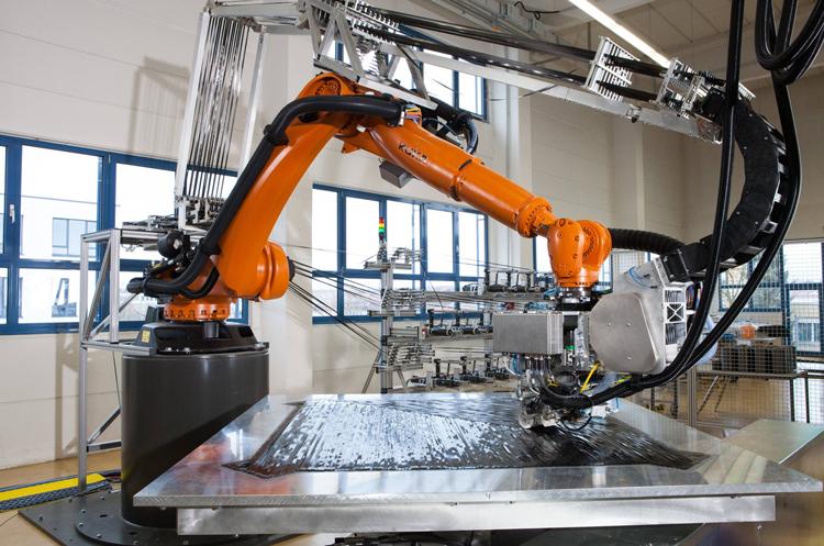 Роботизированное производство композитных деталей на основе арамидного волокна