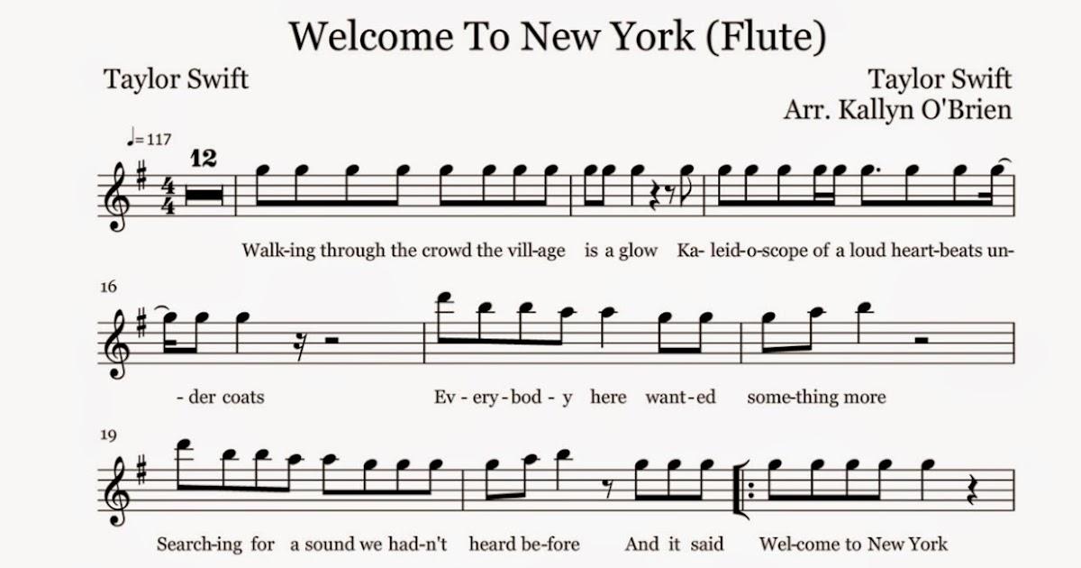 Piano piano sheet music stay rihanna : Flute Sheet Music: Welcome To New York - Sheet Music