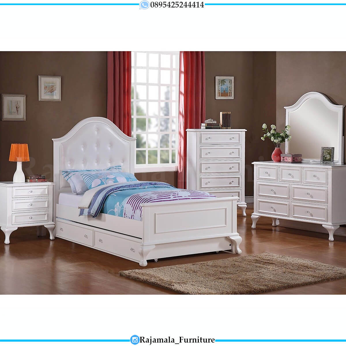 Jual Kamar Set Anak Minimalis Putih Duco Harga Murah RM-0633