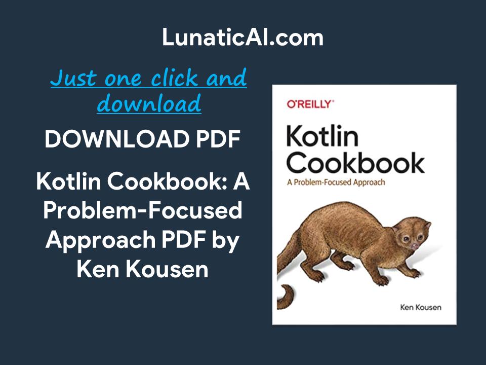 Kotlin Cookbook PDF Download