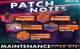 Maintenance Free Fire 20 Maret 2019