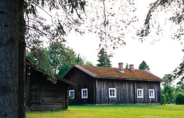 Rantasalmen museo vanha puurakennus