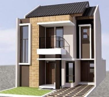 Rumah Minimalis Lebar 10 Meter 2 Lantai terlihat gagah