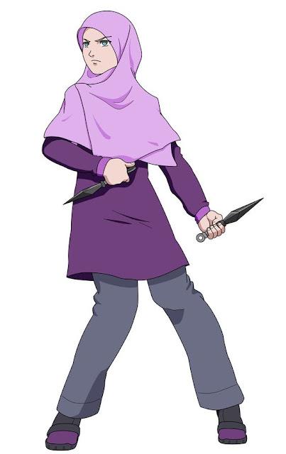 gambar kartun muslimah berhijab