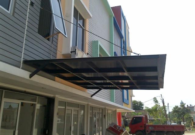canopy baja ringan tanpa tiang contoh gambar desain kanopi