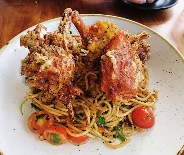 The Butler's Pantry, Rowville, soft shell crab spaghetti