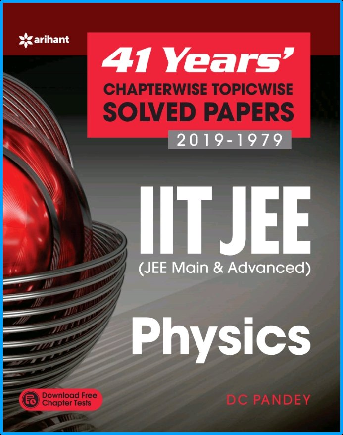 Arihant 41 Years Physics Solved Papers