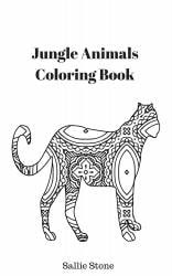 Jungle Animals Adult Coloring Book