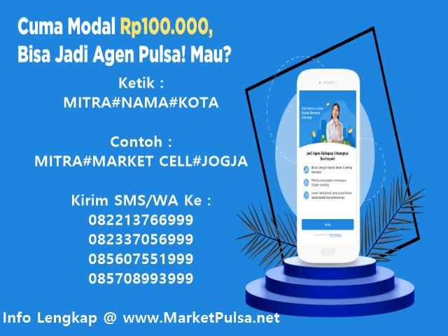 Ayo Daftar Menjadi Agen Pulsa Elektrik Murah All Operator Bersama MarketPulsa.net CV Market Cipta Payment