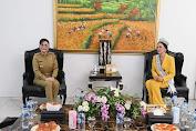 Putri Indonesia Lingkungan Jolene Rotinsulu Audensi Dengan Bupati Tetty Paruntu