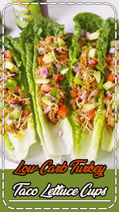 No bread? No problem! Doubling up on romaine leaves insures a mess-free lunch, sans the carbs. If you're looking for more lettuce cups we love these easy Thai chicken lettuce cups! Get the recipe at Delish.com. #delish #easy #recipe #turkey #turkeytaco #lettucecups #Lowcarbdinner #dinnerideas #healthydinner
