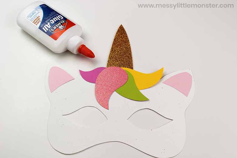 unicorn mask template