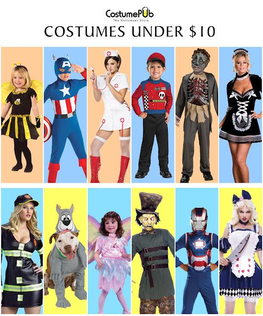 Popular Halloween Costumes Under $10 on Costumepub.com