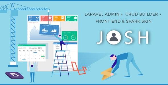 Download Josh v6.1.2 - Laravel Admin Template + Front End + CRUD
