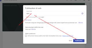 tentukan alamat website google sites