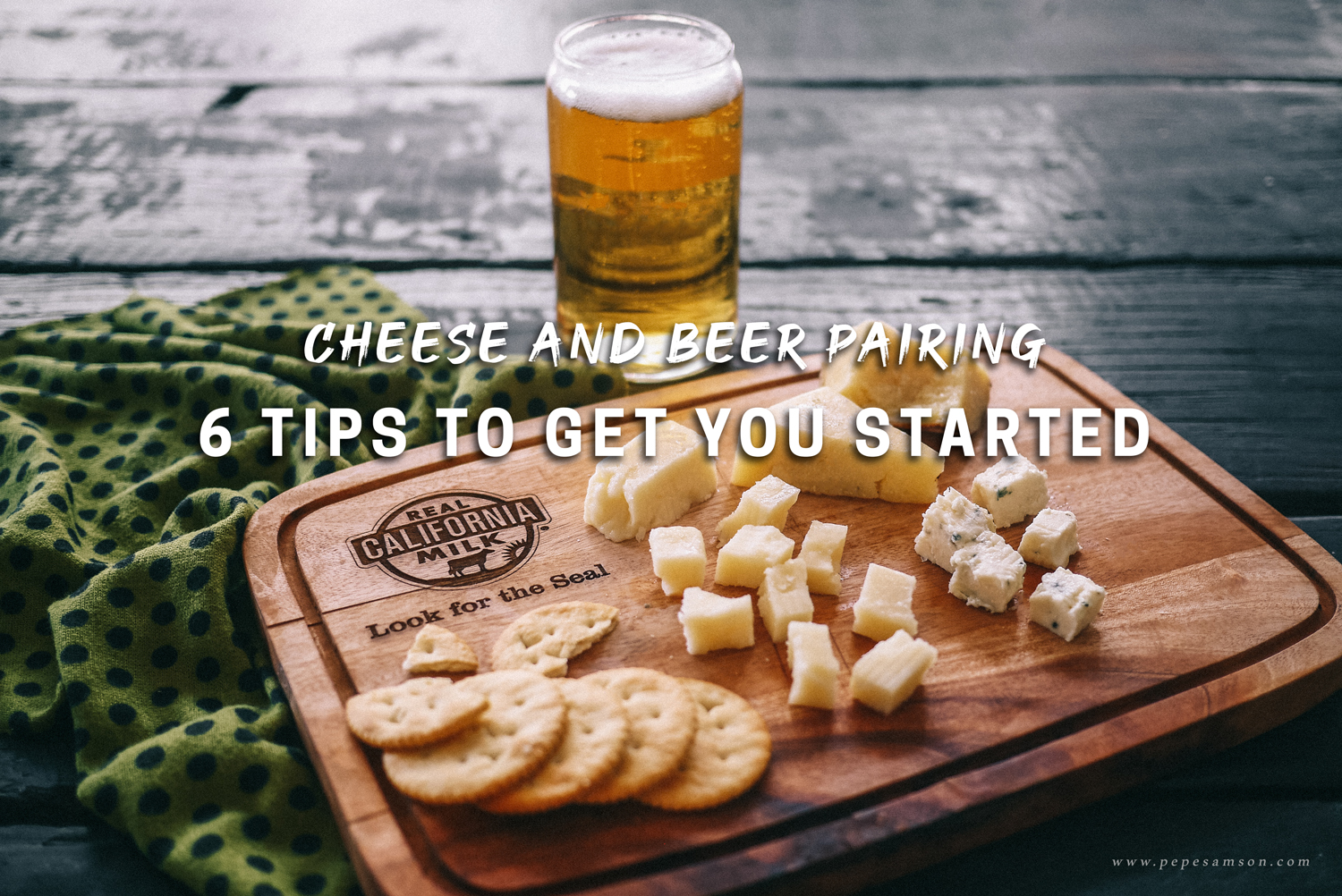 cheese and beer pairing with real california milk