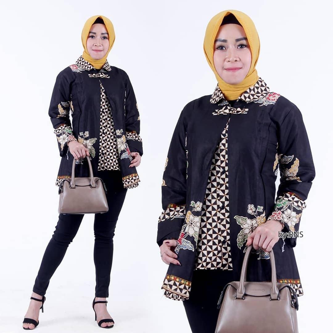 Model Baju Batik Kombinasi Terbaik 2021 Desain Mewah Dan ...