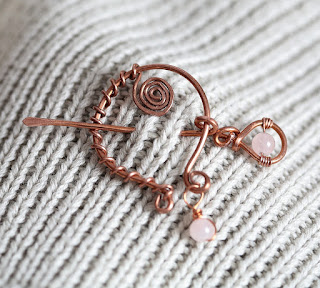 Pin/Brooch to Wear With Sweaters Scarves or Wrap Shawls