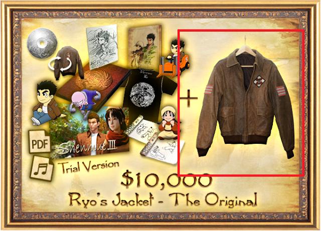 "The ""Ryo's Jacket"" award from the Shenmue 3 Kickstarter"