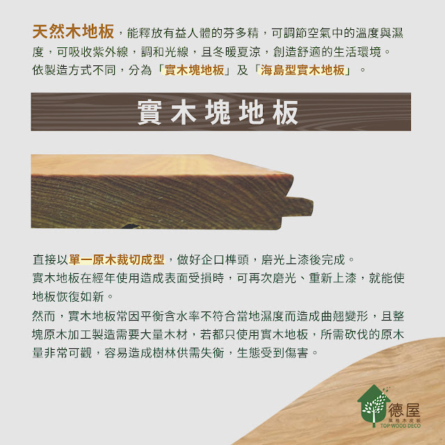 德屋|天然木地板介紹