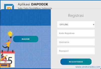 Cara Registrasi Dapodik 2022 Offline