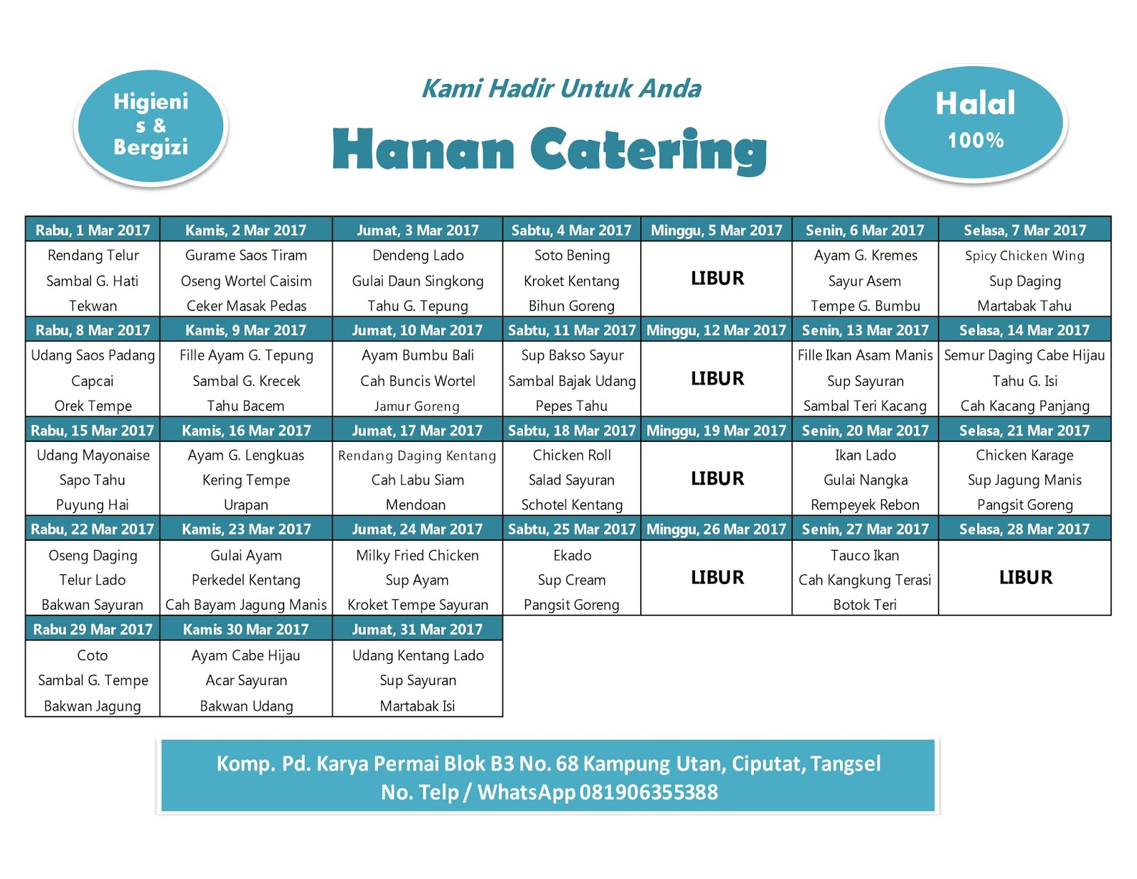 Paket Catering Diet Food Combining Malang