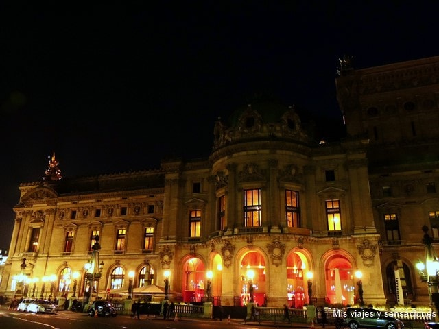 París de noche, Palais Garnier, la Ópera