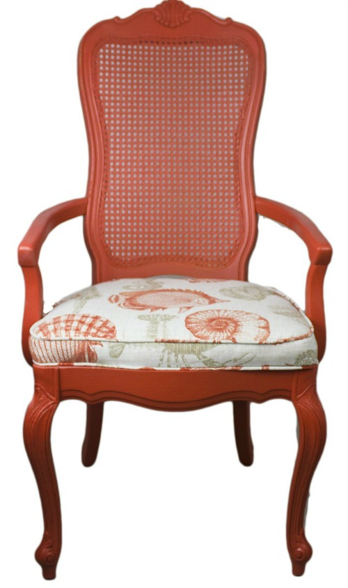 Sea Life Print Chair