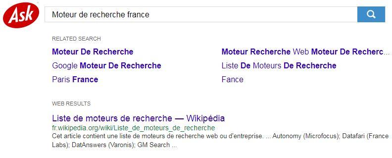 محرك بحث فرنسي