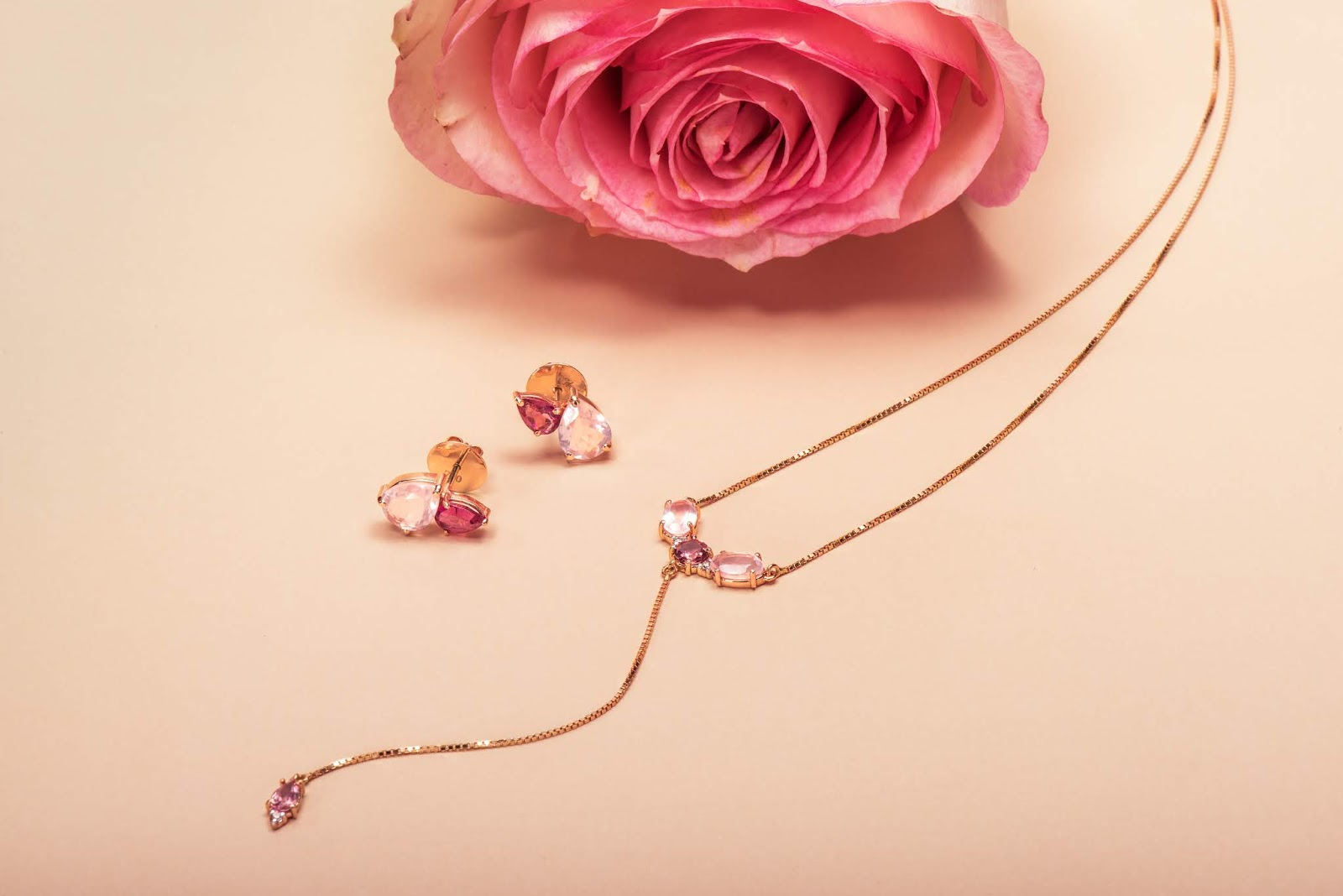 acessórios rose gold da joias gold coleção spring rose