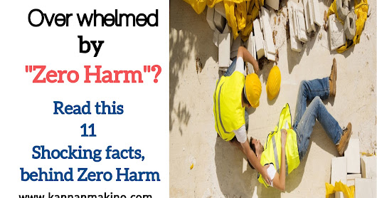 Overwhelmed by Zero harm? Read this 11 Shocking facts behind Zero harm (A Must read for Safety Managers)