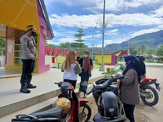 Sat Binmas Sambang Di Wisata Anjungan, Edukasi Pendisiplinan Prokes