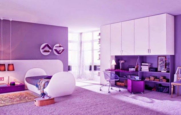 Interior Design Purple Bedroom Design Great Purple Girls Bedroom Designs