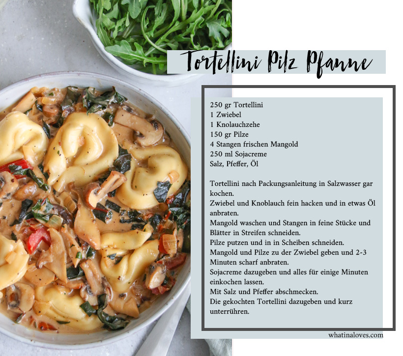 Tortellini-Mangold-Pilzpfanne